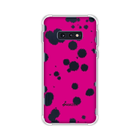 Dalmatian - Black Polka Spots On Pink Soft Flex Tpu Case For Samsung Galaxy S10e