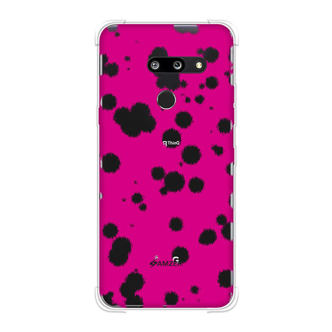 Dalmatian - Black Polka Spots On Pink Soft Flex Tpu Case For LG G8 ThinQ
