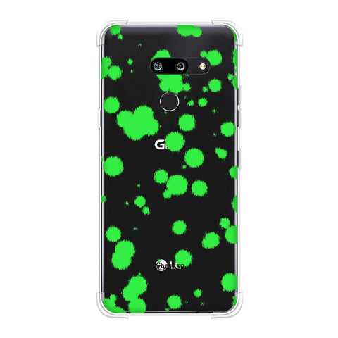 Dalmatian - Neon Green Polka Spots On Black Soft Flex Tpu Case For LG G8 ThinQ