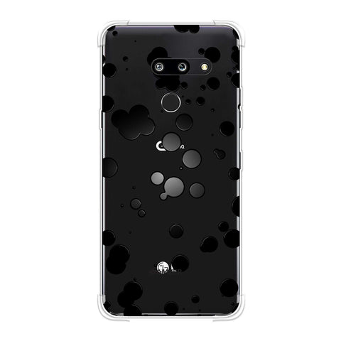 Dalmatian - Black Gloss Polka Spots On White Soft Flex Tpu Case For LG G8 ThinQ
