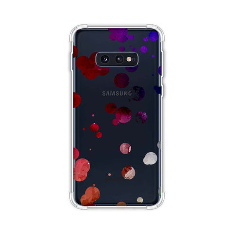 Dalmatian - Watercolour Organic Polks Spots On Black Soft Flex Tpu Case For Samsung Galaxy S10e