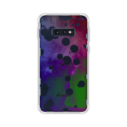 Dalmatian - White Brushed Polka Spots On Aquatic Watercolour Soft Flex Tpu Case For Samsung Galaxy S10e