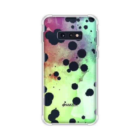 Dalmatian - White Brushed Polka Spots On Overexposed Watercolour Soft Flex Tpu Case For Samsung Galaxy S10e