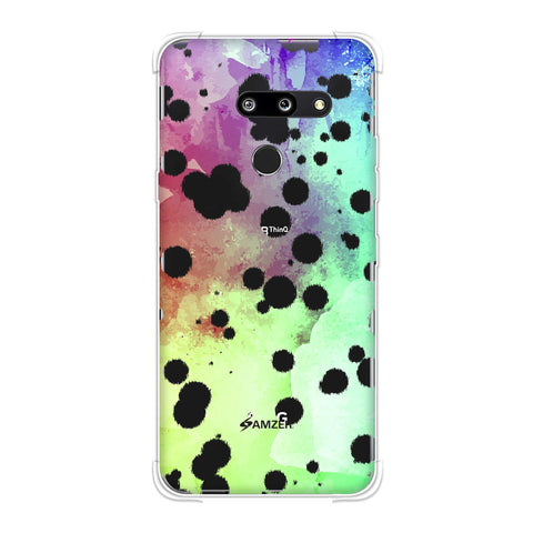 Dalmatian - White Brushed Polka Spots On Overexposed Watercolour Soft Flex Tpu Case For LG G8 ThinQ