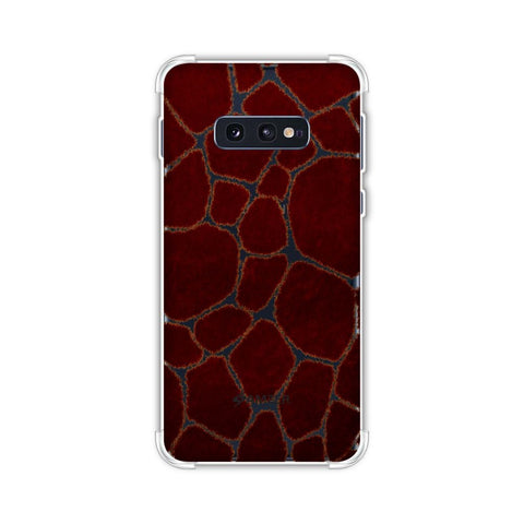 Giraffe - Rust Brown Brushed Soft Flex Tpu Case For Samsung Galaxy S10e