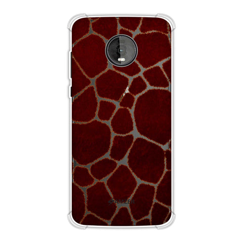 Giraffe - Rust Brown Brushed Soft Flex Tpu Case For Motorola Moto Z4