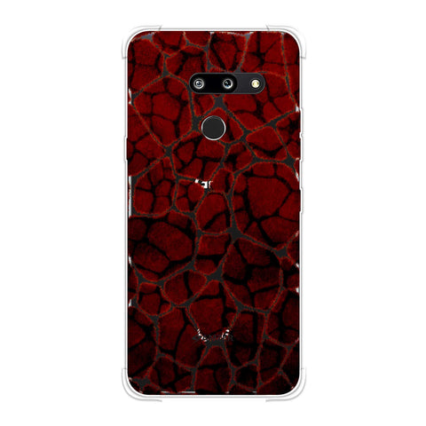 Giraffe - Rust Brown Brushed Pattern Overlap Soft Flex Tpu Case For LG G8 ThinQ