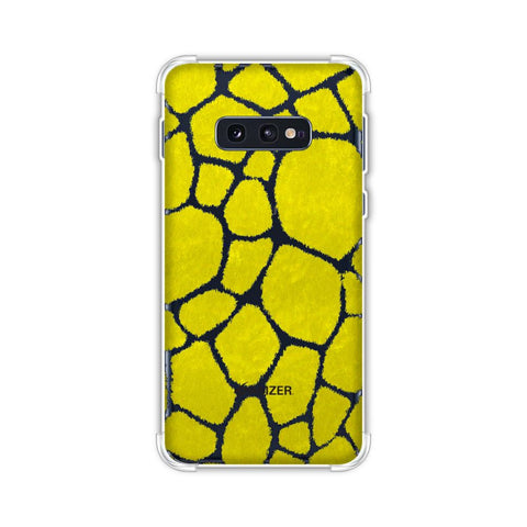 Giraffe - Blue Brushed Scales With Yellow Scratched Effect Soft Flex Tpu Case For Samsung Galaxy S10e