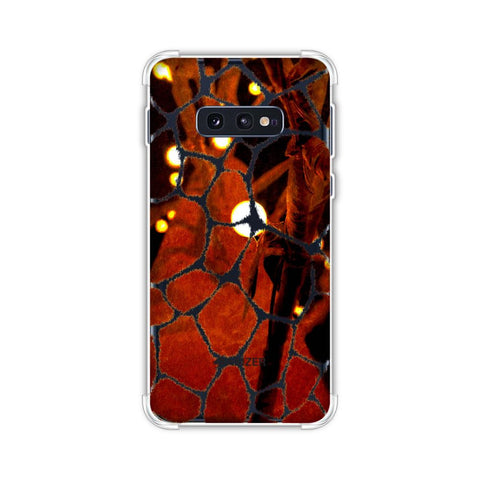 Giraffe - Beige Brushed Scales With Spotlight Photographic Effect Soft Flex Tpu Case For Samsung Galaxy S10e