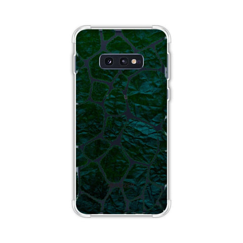 Giraffe - Green Brushed Scales With Bottle Green Crushed Paper Effect Soft Flex Tpu Case For Samsung Galaxy S10e
