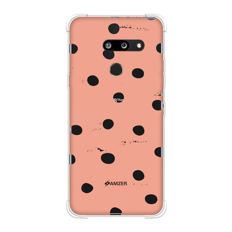 Lady Bug - Peach And White Painted Dots Soft Flex Tpu Case For LG G8 ThinQ