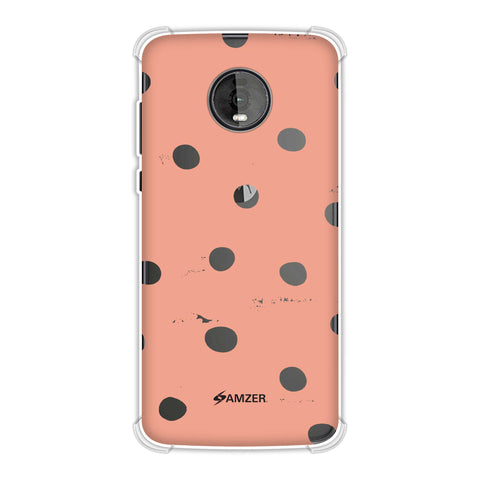 Lady Bug - Peach And White Painted Dots Soft Flex Tpu Case For Motorola Moto Z4