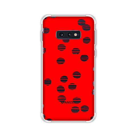 Lady Bug - Red And Black Combed Dots Soft Flex Tpu Case For Samsung Galaxy S10e