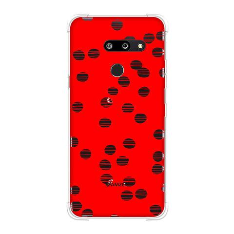 Lady Bug - Red And Black Combed Dots Soft Flex Tpu Case For LG G8 ThinQ