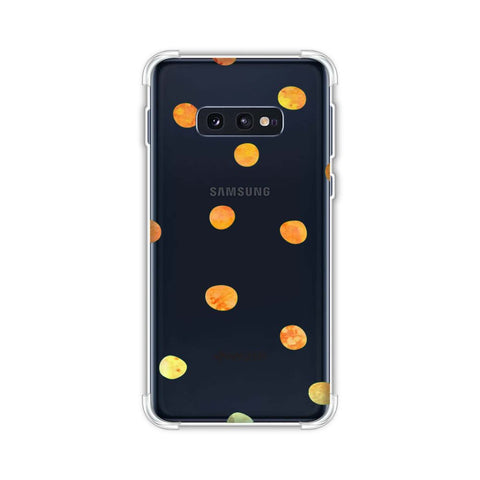 Lady Bug - Gold Dots On Green Bleached Watercolour Soft Flex Tpu Case For Samsung Galaxy S10e