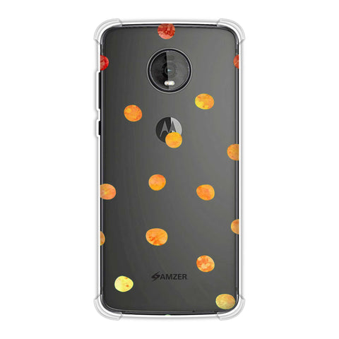 Lady Bug - Gold Dots On Green Bleached Watercolour Soft Flex Tpu Case For Motorola Moto Z4