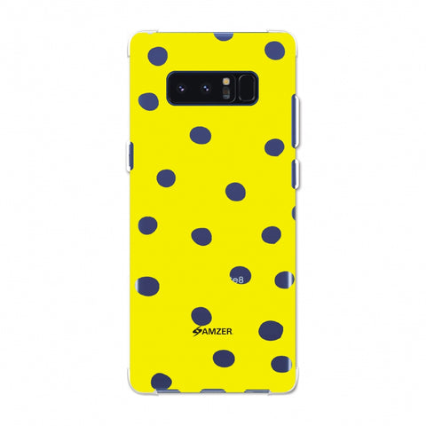Lady Bug - Yellow And Black Dots Soft Flex TPU Case For Samsung Galaxy Note 8