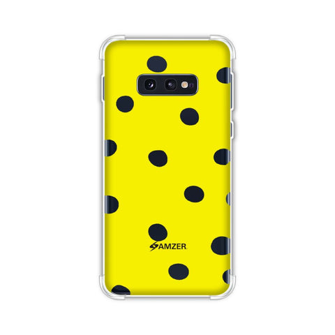 Lady Bug - Yellow And Black Dots Soft Flex Tpu Case For Samsung Galaxy S10e