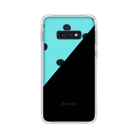 Lady Bug - Blue And White Dots With Diagonal Seperation Soft Flex Tpu Case For Samsung Galaxy S10e