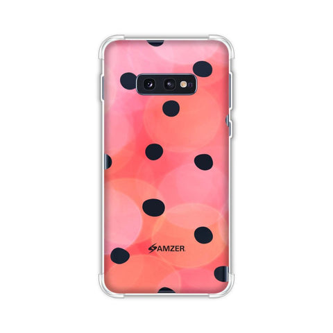 Lady Bug - Red And Black Dots With Starry Effect Soft Flex Tpu Case For Samsung Galaxy S10e