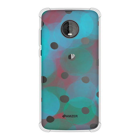 Lady Bug - Peach And Red Dots With Starry Effect Soft Flex Tpu Case For Motorola Moto Z4