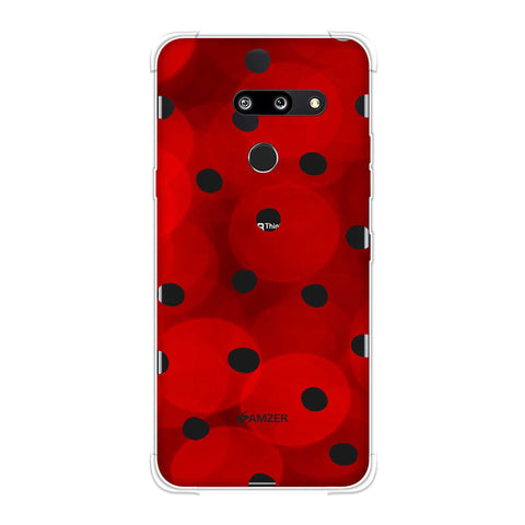 Lady Bug - Red And Black Dots With Spotlight Effect Soft Flex Tpu Case For LG G8 ThinQ
