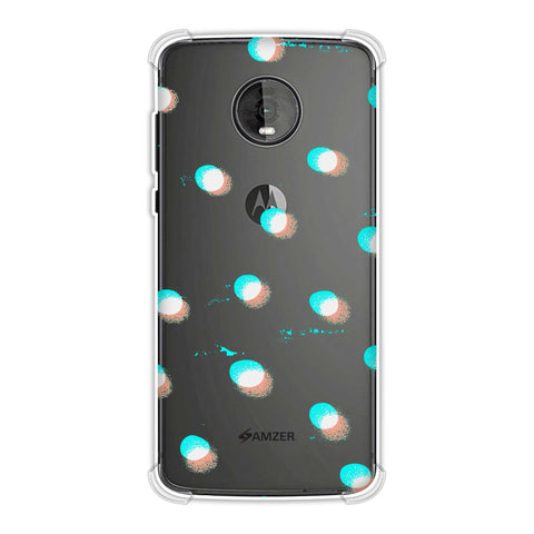 Lady Bug - White And Green Scatter Shadow Dots Soft Flex Tpu Case For Motorola Moto Z4