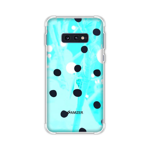 Lady Bug - White And Blue Beam Light Dots Soft Flex Tpu Case For Samsung Galaxy S10e