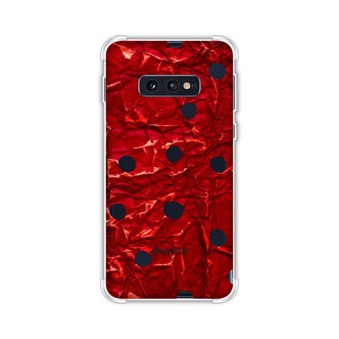 Lady Bug - Black And Red Crushed Gloss Dots Soft Flex Tpu Case For Samsung Galaxy S10e