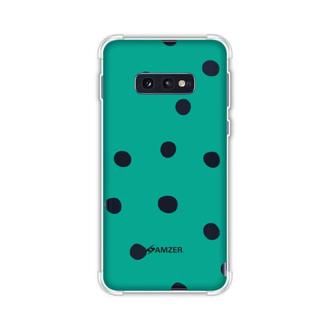 Lady Bug - Teal Green And White Dots Soft Flex Tpu Case For Samsung Galaxy S10e