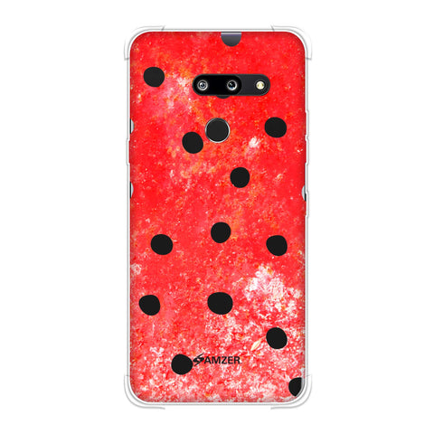 Lady Bug - Black Dots On Powder Red Soft Flex Tpu Case For LG G8 ThinQ