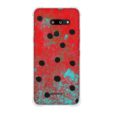 Lady Bug - Black Dots On Powder Blue Soft Flex Tpu Case For LG G8 ThinQ