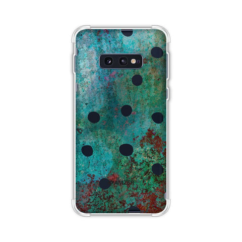 Lady Bug - Black Dots On Green Mold Wood Effect Soft Flex Tpu Case For Samsung Galaxy S10e