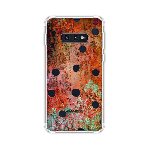 Lady Bug - Black Dots On Rust Mold Wood Effect Soft Flex Tpu Case For Samsung Galaxy S10e