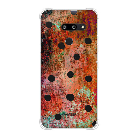 Lady Bug - Black Dots On Rust Mold Wood Effect Soft Flex Tpu Case For LG G8 ThinQ