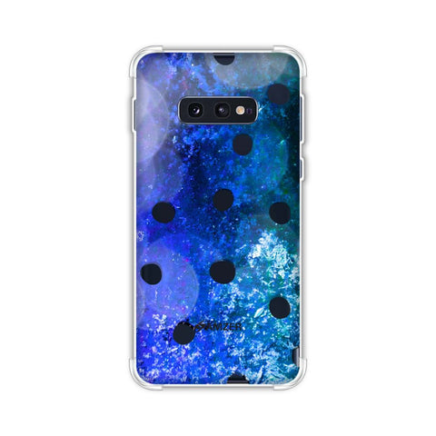 Lady Bug - Black Dots On Blue Glitter Crushed Starry Lights Soft Flex Tpu Case For Samsung Galaxy S10e