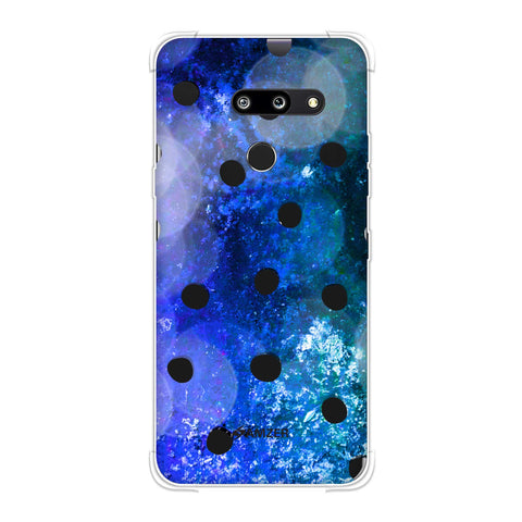 Lady Bug - Black Dots On Blue Glitter Crushed Starry Lights Soft Flex Tpu Case For LG G8 ThinQ