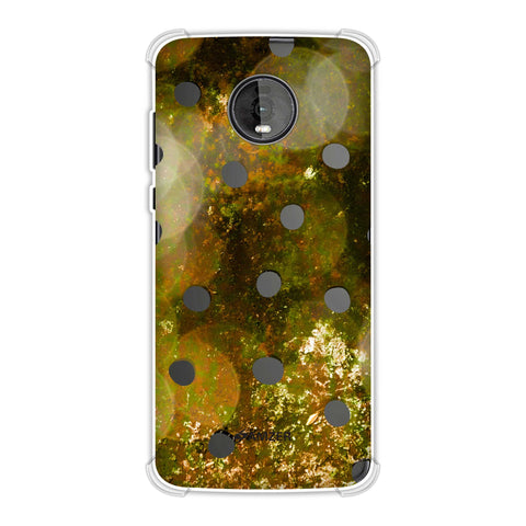 Lady Bug - Black Dots On Gold Glitter Crushed Starry Lights Soft Flex Tpu Case For Motorola Moto Z4