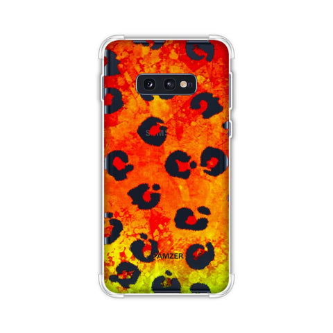 Leopard - Brushed Spots - Organic Grunge Soft Flex Tpu Case For Samsung Galaxy S10e
