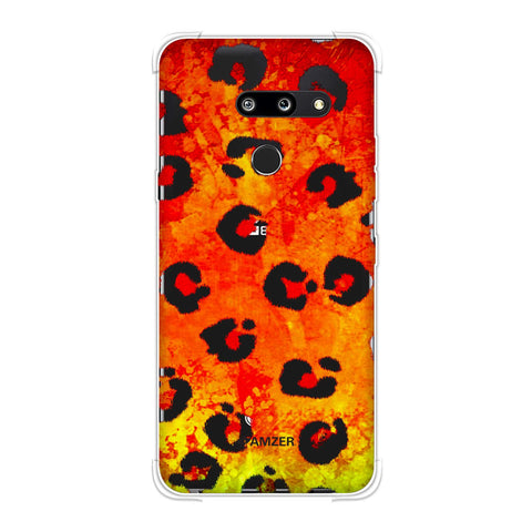 Leopard - Brushed Spots - Organic Grunge Soft Flex Tpu Case For LG G8 ThinQ