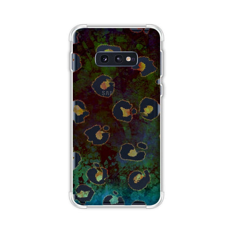 Leopard - Brushed Spots - Yellow Grunge Soft Flex Tpu Case For Samsung Galaxy S10e