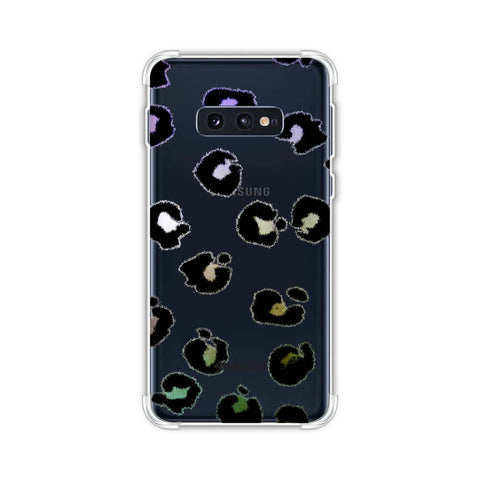 Leopard - Grunge Multicolour Spots On White Soft Flex Tpu Case For Samsung Galaxy S10e