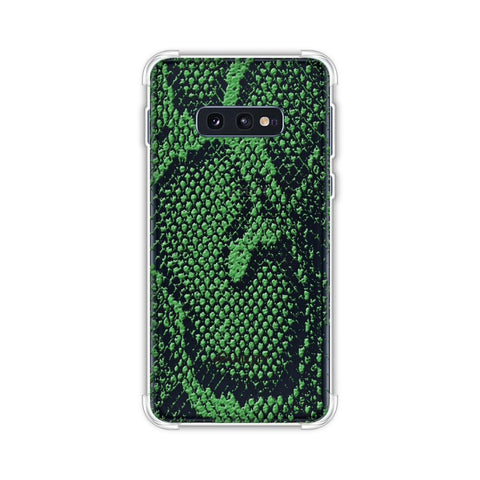 Snakes - Grass Green Skin Soft Flex Tpu Case For Samsung Galaxy S10e
