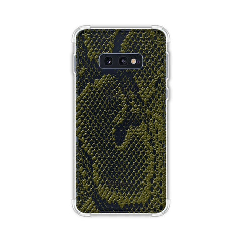 Snakes - Olive Green Skin Soft Flex Tpu Case For Samsung Galaxy S10e