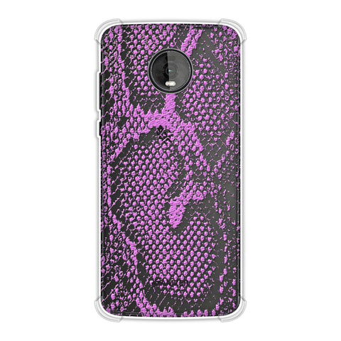 Snakes - Incandescent Pink Skin Soft Flex Tpu Case For Motorola Moto Z4