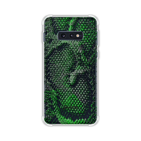 Snakes - Neon Green Skin Soft Flex Tpu Case For Samsung Galaxy S10e