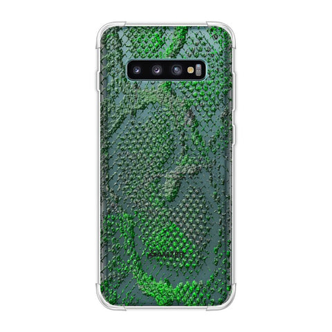 Snakes - Neon Green Skin Soft Flex Tpu Case For Samsung Galaxy S10 Plus