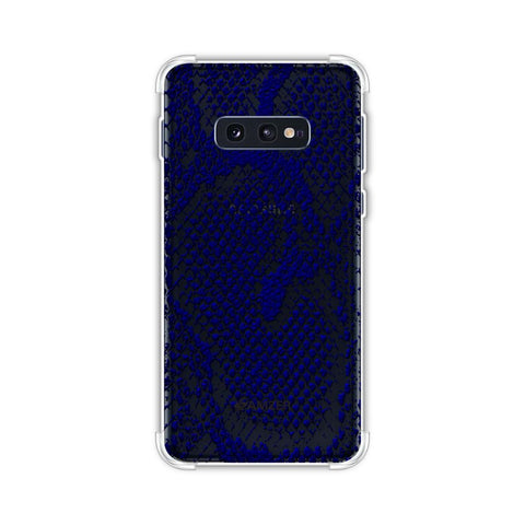 Snakes - Midnight Blue Skin Soft Flex Tpu Case For Samsung Galaxy S10e