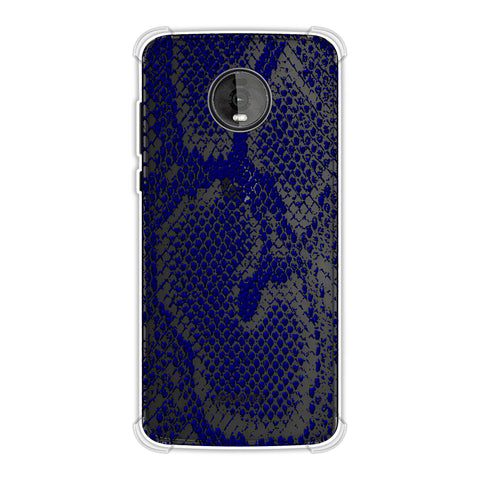 Snakes - Midnight Blue Skin Soft Flex Tpu Case For Motorola Moto Z4