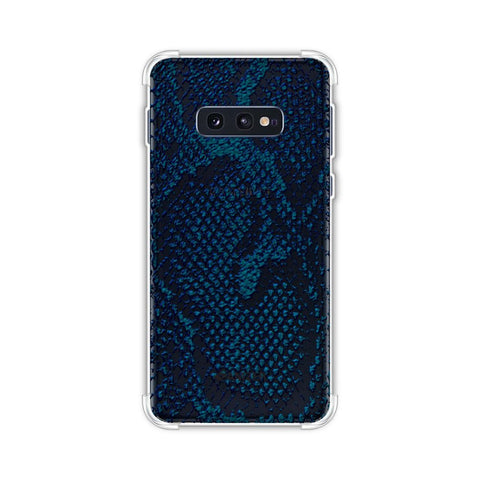 Snakes - Deep Teal Skin Soft Flex Tpu Case For Samsung Galaxy S10e